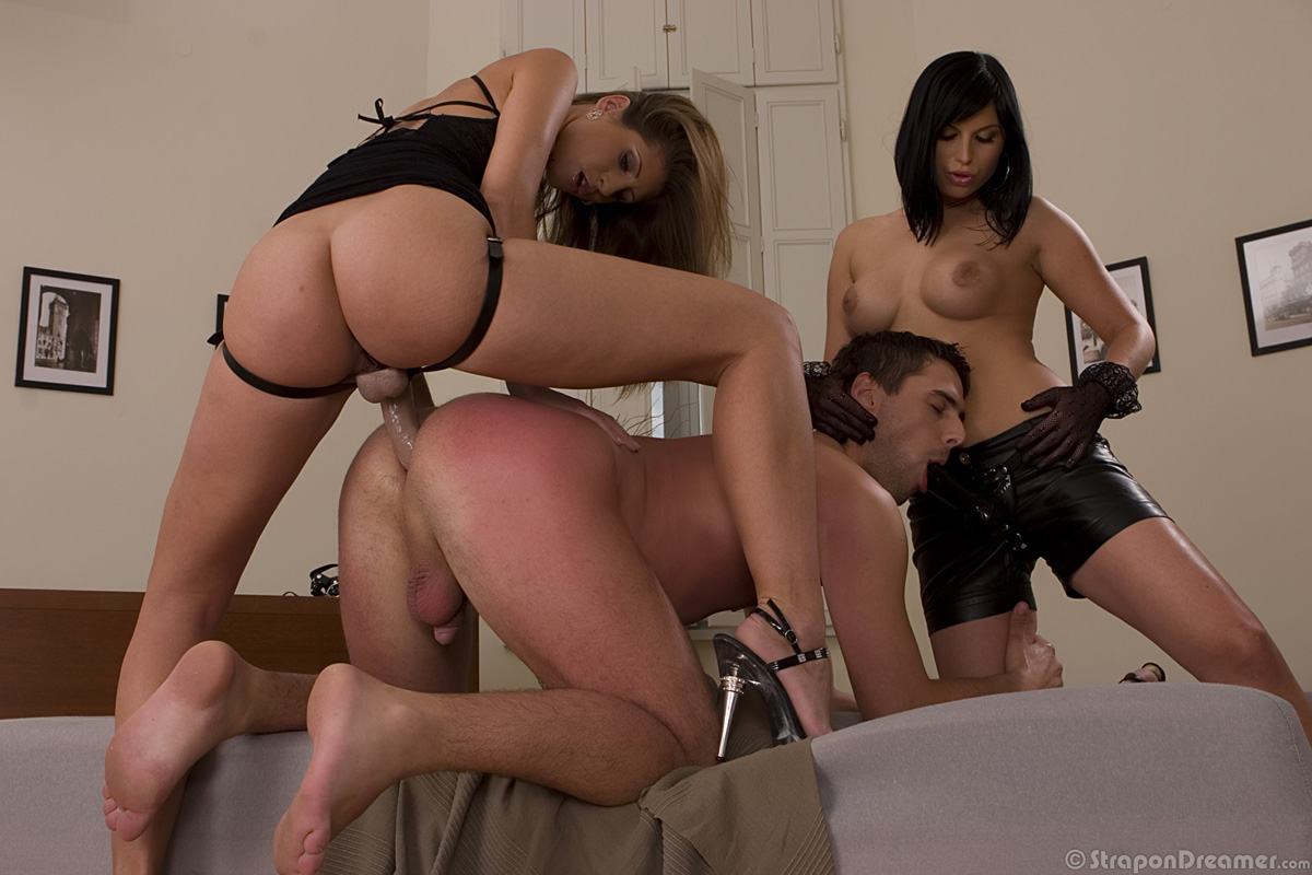 Pegging strap on dildo husband